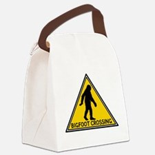 Bigfoot Crossing Sign Canvas Lunch Bag