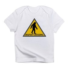 Bigfoot Crossing Sign Infant T-Shirt
