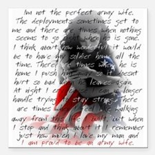"Army Wife Poem Square Car Magnet 3"" x 3"""