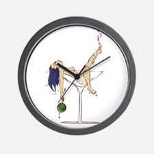 Sexy Martini Pinup Wall Clock