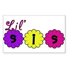 Lil Sis (Little Sister) Rectangle Decal