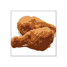 """Fried Chicken Love Square Sticker 3"""" x 3"""""""