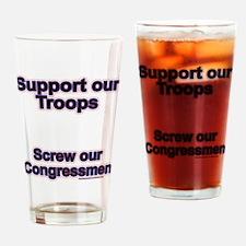 Troops vs. Congress Drinking Glass