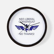 WingsLand NeoLiberalWhite Wall Clock