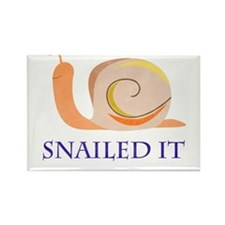 Snailed It Rectangle Magnet