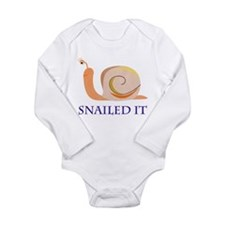Snailed It Long Sleeve Infant Bodysuit