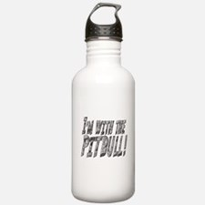 IM WITH THE-PITBULL-BENT CHROME copy.png Water Bottle