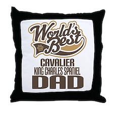 Cavalier King Charles Spaniel Dad Throw Pillow
