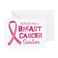 Breast Cancer Mom Greeting Card