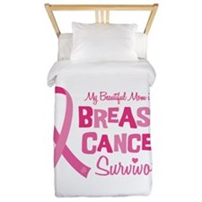 Breast Cancer Mom Twin Duvet
