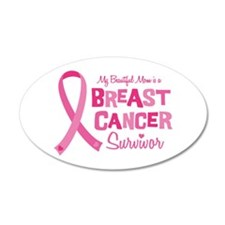 Breast Cancer Mom Wall Decal