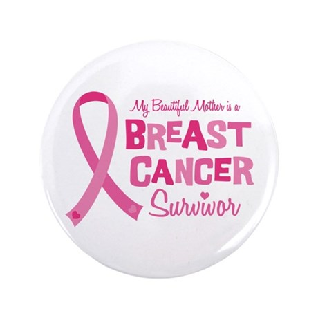 "Breast Cancer Mother 3.5"" Button (100 pack)"
