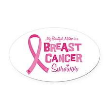 Breast Cancer Mother Oval Car Magnet