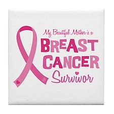 Breast Cancer Mother Tile Coaster