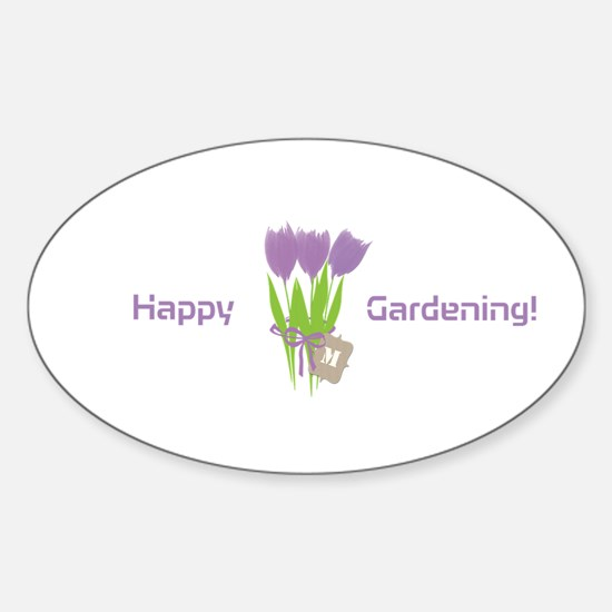 Cute Gardener Lilac Tulips Decal