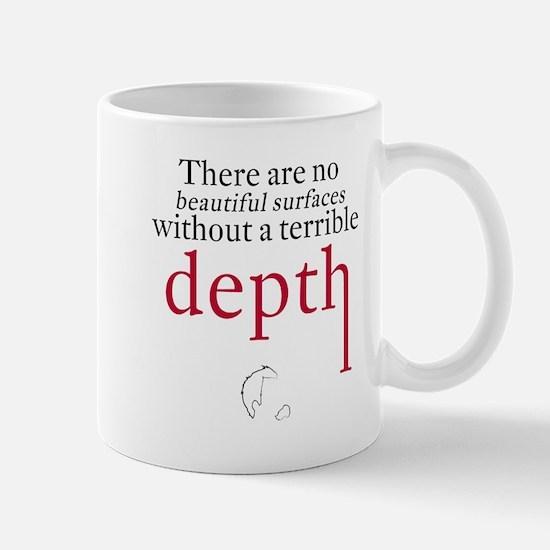 Nietzsche Quote - Beautiful Surfaces Mugs