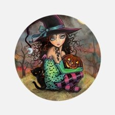 """Halloween Hill 3.5"""" Button"""