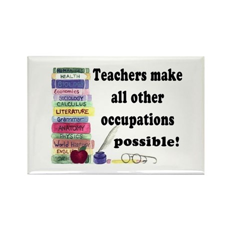 """Teacher Occupations"" Rectangle Magnet"