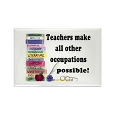 """Teacher Occupations"" Rectangle Magnet (10 pack)"