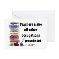 """Teacher Occupations"" Greeting Cards (Pk of 10"