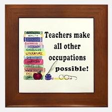"""Teacher Occupations"" Framed Tile"