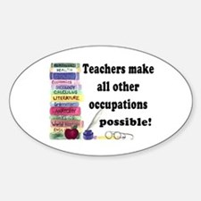"""Teacher Occupations"" Oval Decal"