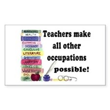 """Teacher Occupations"" Rectangle Decal"