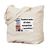 Education jobs Canvas Totes