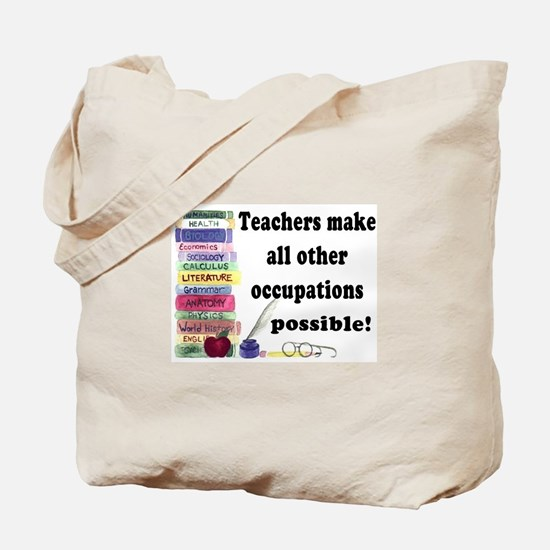 """Teacher Occupations"" Tote Bag"