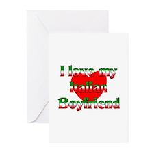 I Love My Italian Boyfriend Greeting Cards (Packag