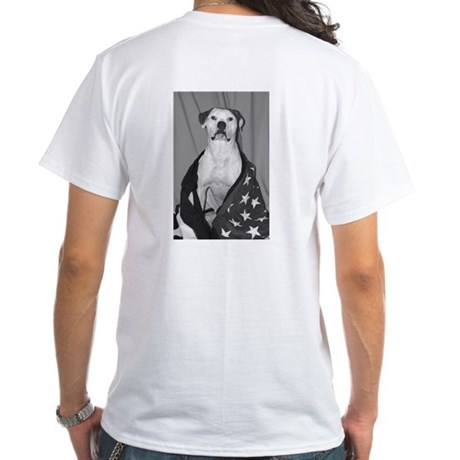 American Bulldog Pride White T-Shirt