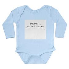 Shhh Long Sleeve Infant Bodysuit