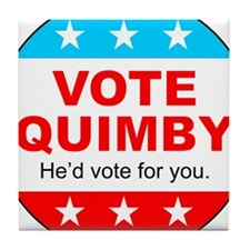 Vote Quimby Tile Coaster