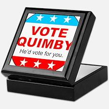 Vote Quimby Keepsake Box