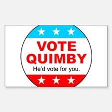 Vote Quimby Sticker (Rectangle)