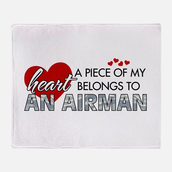 Piece of my heart Airman.png Throw Blanket