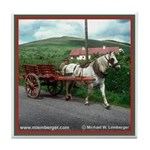 Horse Drawn Cart Tile Coaster