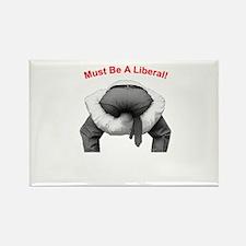 Head Up Ass Rectangle Magnet
