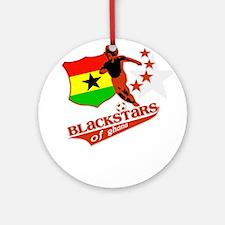 Black stars of Ghana Ornament (Round)