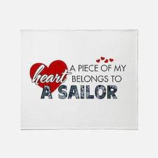 Piece of my heart Sailor.png Throw Blanket