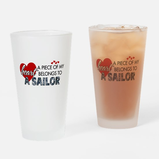 Piece of my heart Sailor.png Drinking Glass