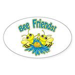 Bee Friends Sticker (Oval 10 pk)