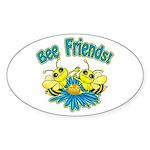 Bee Friends Sticker (Oval)