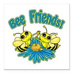 """Bee Friends Square Car Magnet 3"""" x 3"""""""