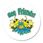 Bee Friends Round Car Magnet