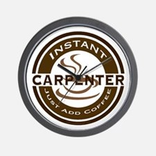 Instant Carpenter Coffee Wall Clock