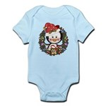 Christmas Penguin Holiday Wreath Infant Bodysuit