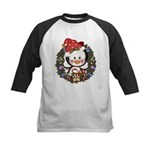 Christmas Penguin Holiday Wreath Kids Baseball Jer