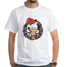 Christmas Penguin Holiday Wreath Shirt