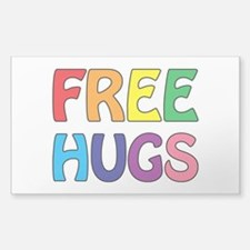 Free Hugs Sticker (Rectangle)